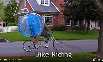 8 human bubble ball for sale with bike riding