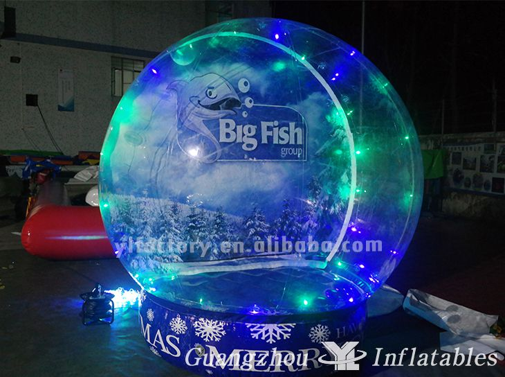 inflatable snow globe with light