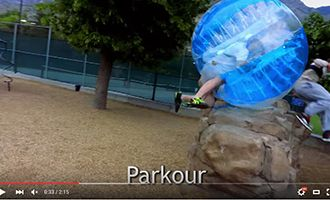 5-4 1.55m tpu bumper ball with parkour