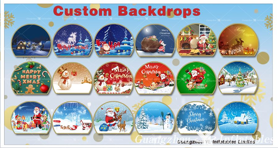 snowglobes Custom Backdrops for hot sale
