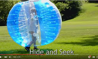 12.human inflatalbe bumper bubble ball with hide and seek