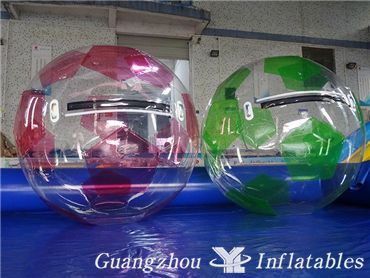 Color Inflatable Football Water Waking Ball For Sale