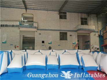 White and Blue Inflatable Paintball Bunkers, Paintball Fields, Paintball Bunkers