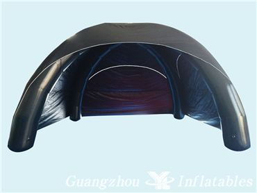 Black Sealed Inflatable Camping Tent, Advertising Events Inflatable Bounce House Tent