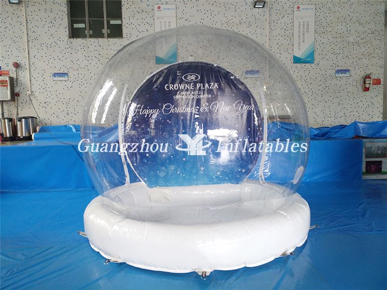 christmas advertising snow ball
