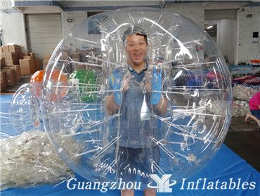 New Design One Side Window Inflatable Bumper Balls, Inflatable Human Bubble Ball