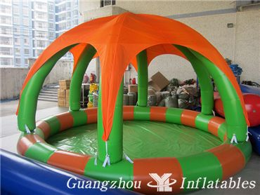 Inflatable-Pool-with-a-tent