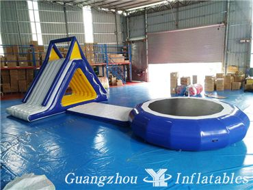 Trampoline Groups for Water Amusement Park, Inflatable Water Trampoline Sea Sports Games