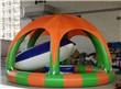 Inflatable Pool with a tent
