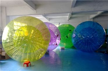 Colored Zorb Ball, Grass Zorb Ball, Inflatable Human Bumper Ball