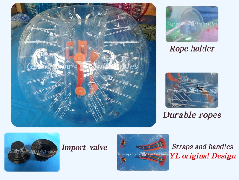 Inflatable Bumper Bubble Ball Factory Zorbing Football Suit For Family