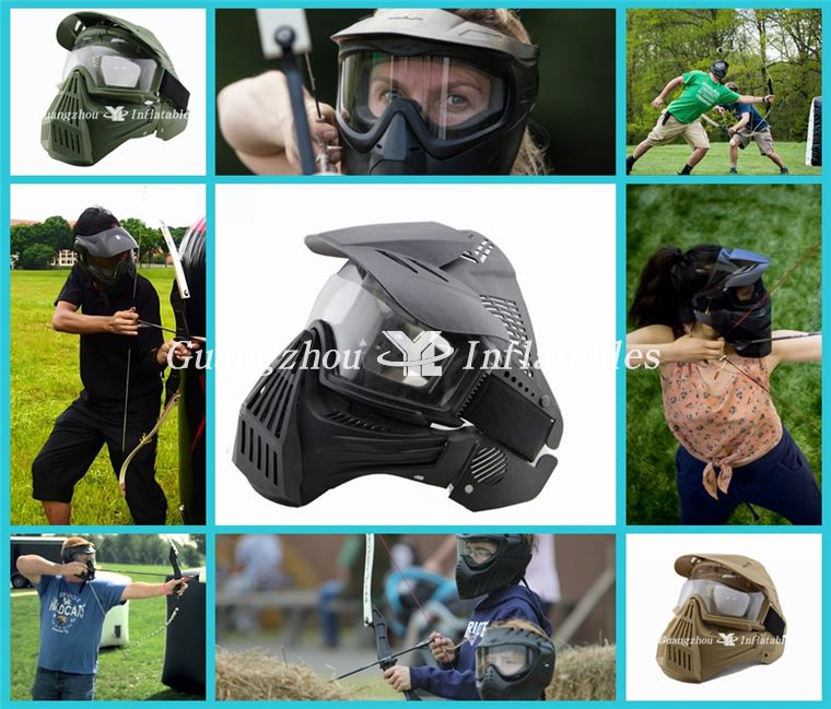 Inflatable Paintball Bunkers Full Face Lens Mask