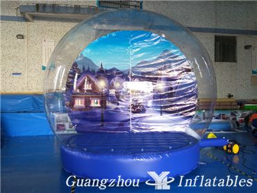 Transparent Air Dome Inflatable snow Ball for Christmas Showing