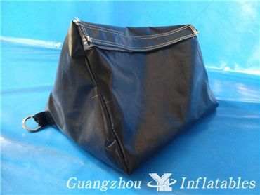 Black PVC Inflatable Paintball Sandbags, Obstacle Arena Event