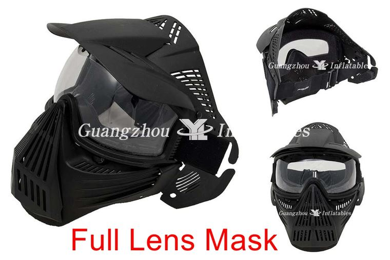 Inflatable Paintball Bunkers Full Face Lens Mas
