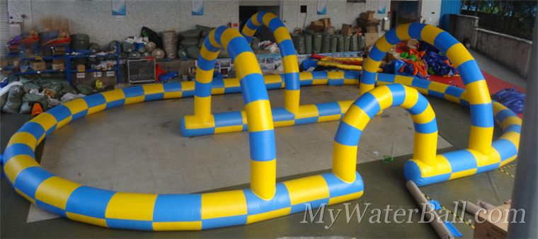 inflatable ramp for harmester zorb ball zorbing game