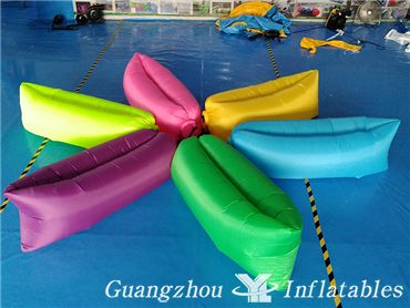 Outdoor Traveling Inflatable Portable Flocking Bean Bag Banana Sofa